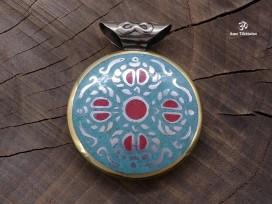 PD86 Pendentif Tibétain Dorje Yeux de Bouddha