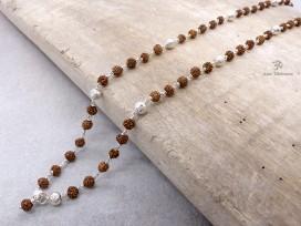 CA08 Collier Tibétain Argent Massif Perle de Rudraksha