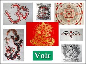 Affiches Tibétaines